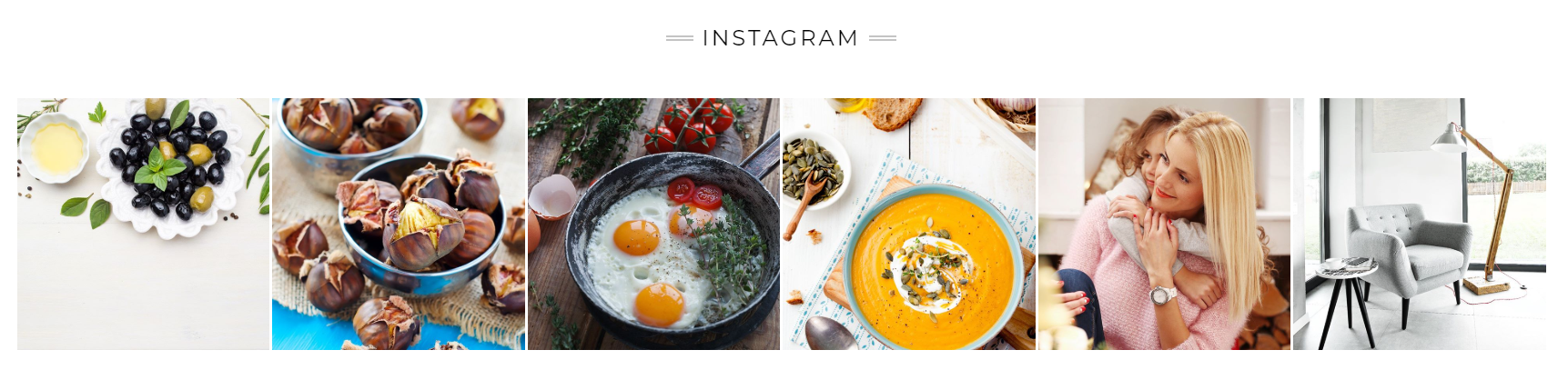 Kale Pro - site footer Instagram feed