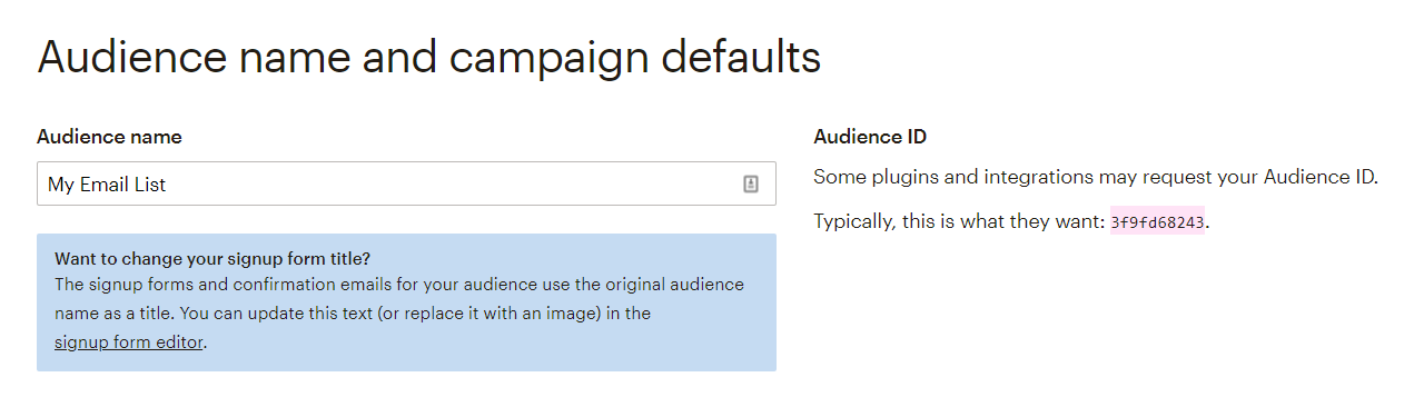 Your audience ID.